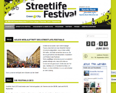 www.streetlife-festival.de // Streetlife Festival Webseite 2014